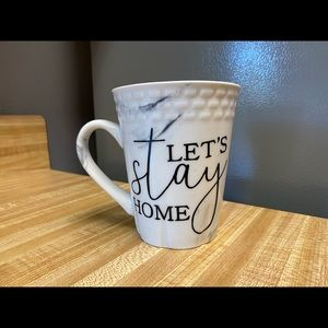 Marble, let's stay home, coffee mug